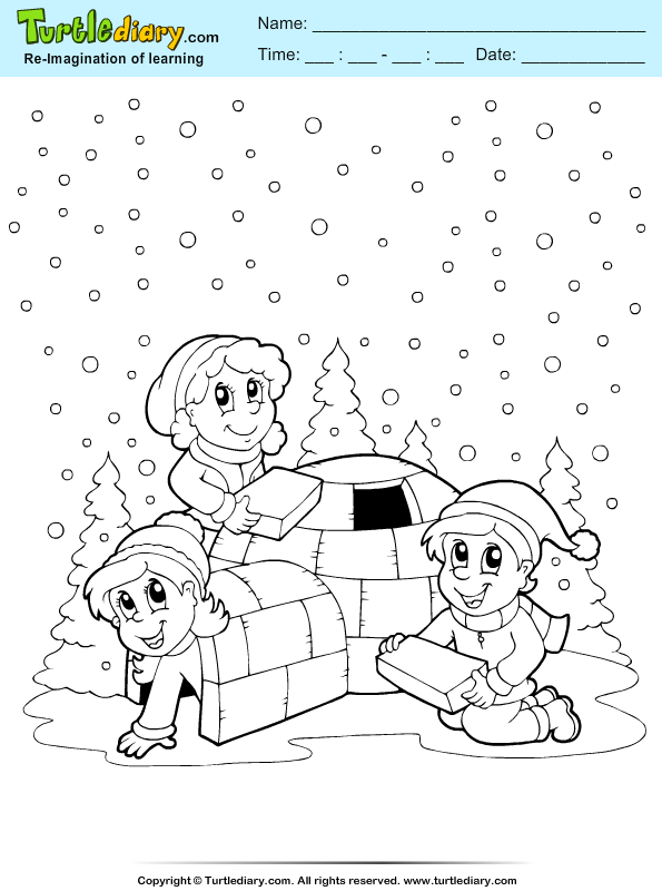 igloo coloring pages teachers - photo#34