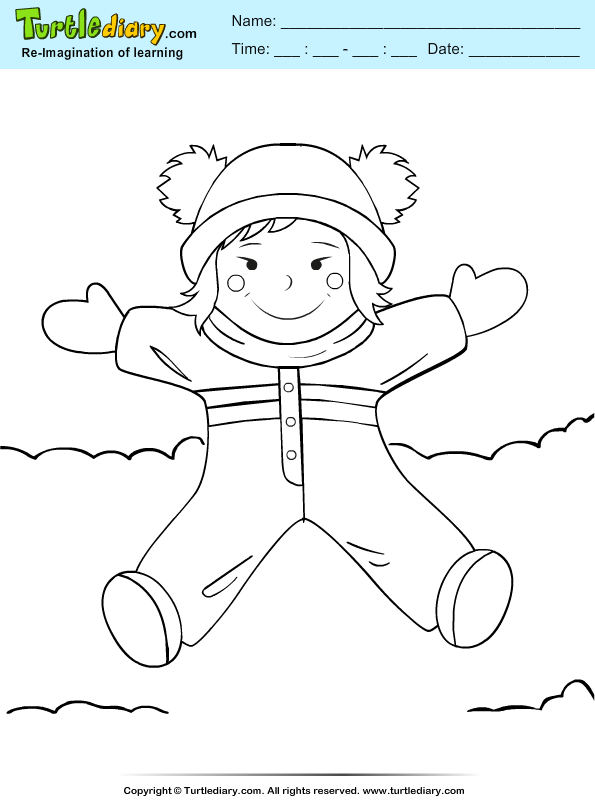 Jumping Girl Coloring Page