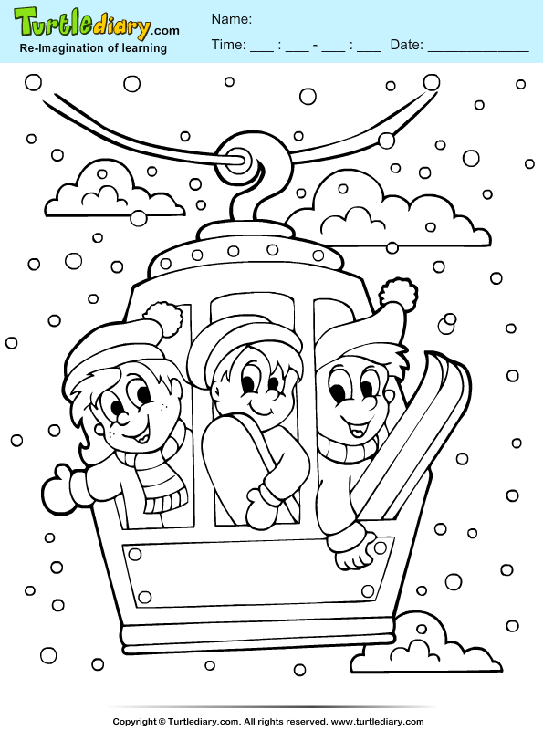 Rope Trolley Coloring Page