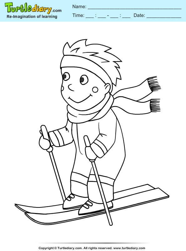 Ski Coloring Page