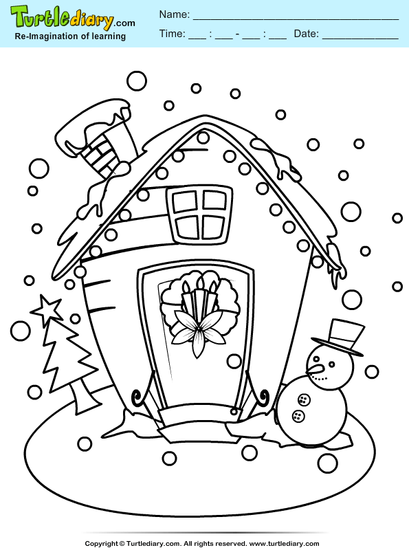 Snow House Coloring Page