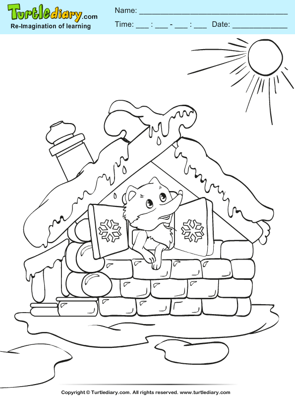 Sun in Winter Coloring Page