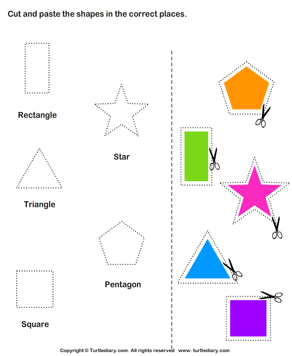 Cut and Paste Activities | Cut and Paste Shapes Worksheets