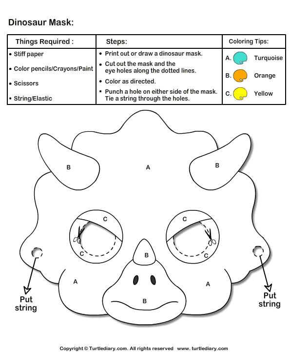 Как сделать динозавра маску из бумаги