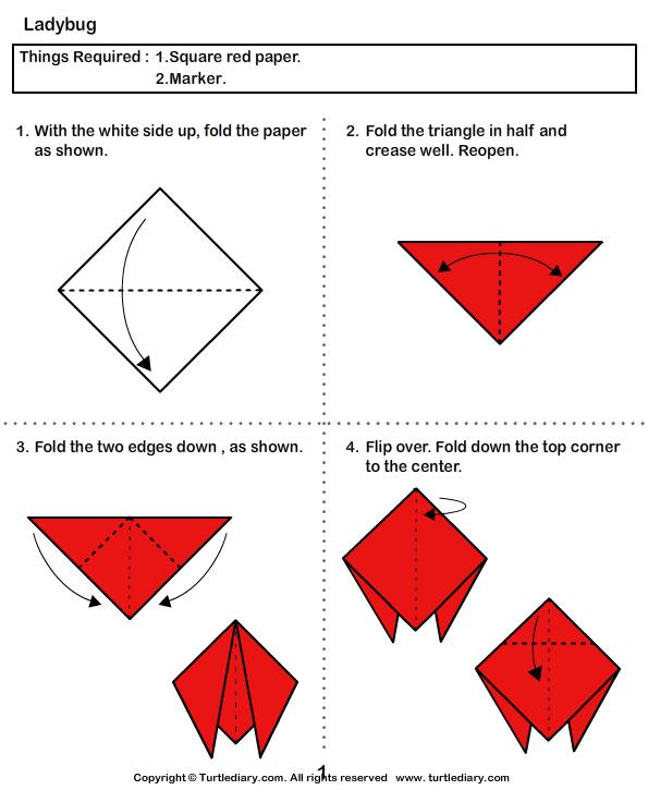 Lady Bug Origami