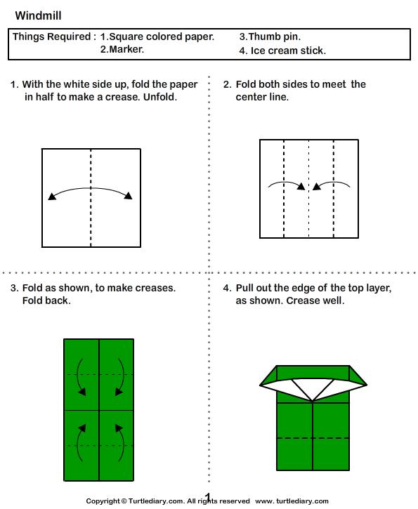 Windmill Origami