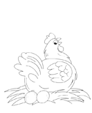 Color a Hen