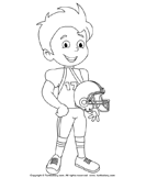 Color Boy With Rugby Dress-Up