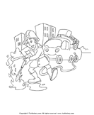 Color a Fire Fighter