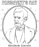 coloring pages abraham lincoln - president 39 s day coloring sheets turtle diary