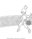 Color the Tennis Player