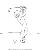 Color the Golfer