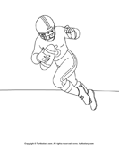 Color the Football Player