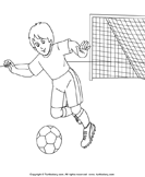 Color the Soccer Player