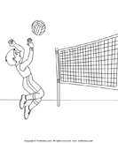Color the Volleyball Player