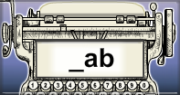 Ab Words Speed Typing - -ab words - First Grade