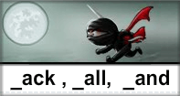 Ack All And Words Typing Ninja - -and words - Second Grade