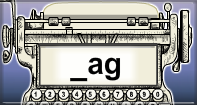 Ag Words Speed Typing - -ag words - First Grade