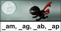 Am Ag Ab Ap Words Typing Ninja - -ag words - First Grade