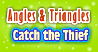 Angles and Triangles-Catch the Thief - Angles - Third Grade