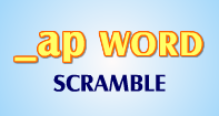 Ap Words Scramble - -ap words - First Grade