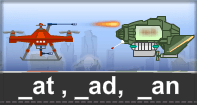 At Ad An Words Typing Aircraft - -at words - First Grade