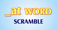 At Words Scramble - -at words - First Grade