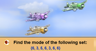 Plane race with Mode - Statistics - Fourth Grade