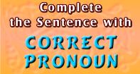 Complete the Sentence with Correct Pronoun - Reading - Third Grade