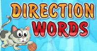 Direction Words - Word Games - Kindergarten