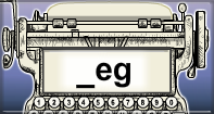 Eg Words Speed Typing - -eg words - First Grade