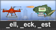 Ell Eck Est Words Typing Aircraft - -ell words - First Grade