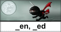 En Ed Words Typing Ninja - -ed words - First Grade