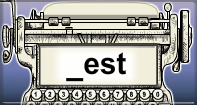 Est Words Speed Typing - -est words - Second Grade