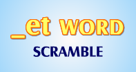 Et Words Scramble - -et words - Kindergarten
