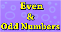 Even and Odd numbers - Whole Numbers - Third Grade