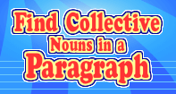 Find Collective Nouns in a Paragraph - Noun - Third Grade
