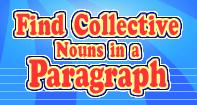 Find Collective Nouns in a Paragraph - Noun - Third Grade