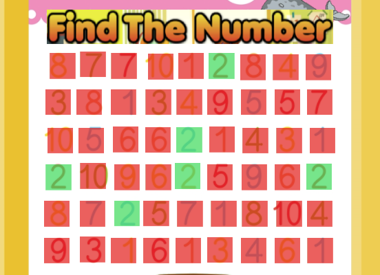 Find The Number - Counting - Preschool
