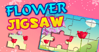 Flower Jigsaw - Jigsaw Puzzles - Second Grade