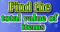Find the total value of items - Money - First Grade
