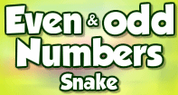 Even and Odd Numbers Snake - Whole Numbers - Third Grade