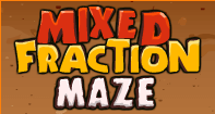 Mixed Fraction Maze - Fractions - Fourth Grade