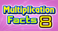 Multiplication Facts 8 - Multiplication - First Grade