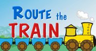 Route the Train - Skill and Strategy Games - First Grade