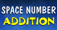 Space Number Addition - Addition - First Grade