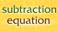 Subtraction Equation - Subtraction - First Grade