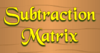 Subtraction Matrix - Subtraction - First Grade