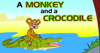 Comprehension - A Monkey and a Crocodile
