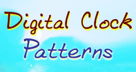 Digital Clock Patterns - Units of Measurement - Second Grade